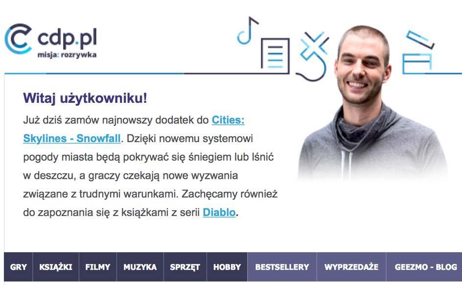 Fragment wiadomości od CDP.pl