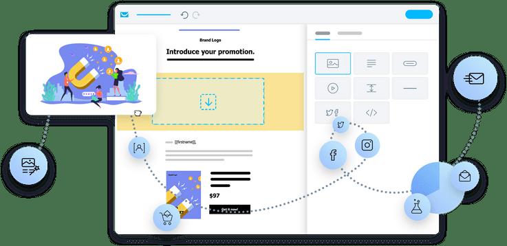 Comece com criador de e-mails intuitivo