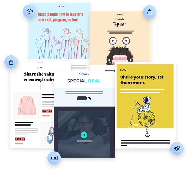 Get inspired with goal-oriented templates
