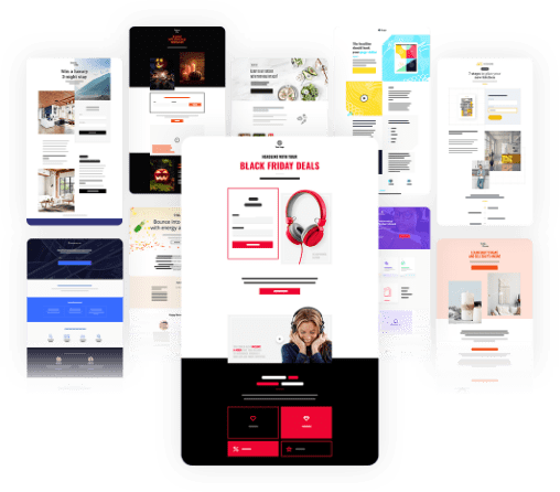 Get over 200 landing page templates
