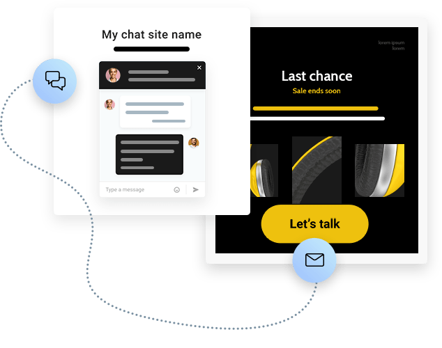 Turn emails into live conversations