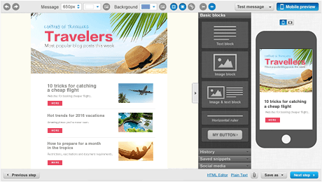 Email marketing for Travel Agencies - GetResponse