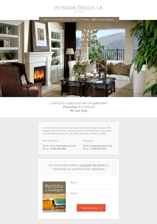 show template interior design - Interior Design Pages