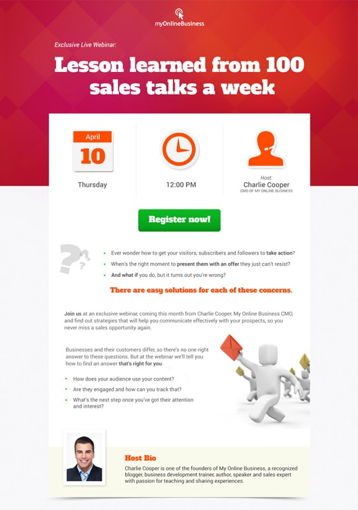 Webinar invite pages by getresponse show template sales talk stopboris Choice Image