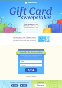 Gift Card Sweepstake