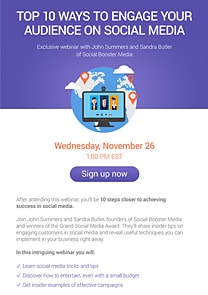 webinar invite pages by getresponse