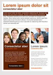 Positive Attitude Brown newsletter template