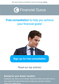 Financial Guru newsletter template