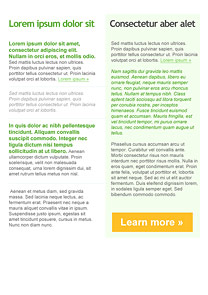 Simple Text Green newsletter template