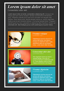 Be Creative Black newsletter template