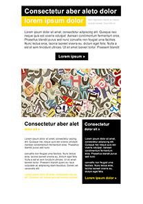 Letter Black newsletter template