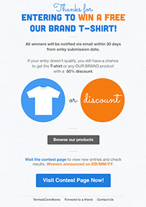 Contest thank you 1 newsletter template