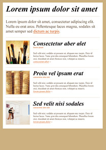 Art Lounge Beige newsletter template