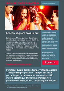 Double Date Grey newsletter template