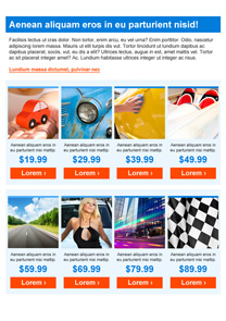 Racing Blue newsletter template