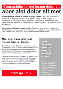 Announcement Red newsletter template