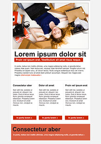 Dreamer Red newsletter template