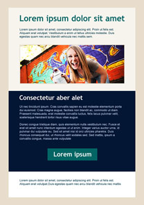Graffiti Wall Navy Blue newsletter template