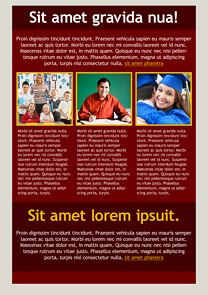 Graduation Claret newsletter template