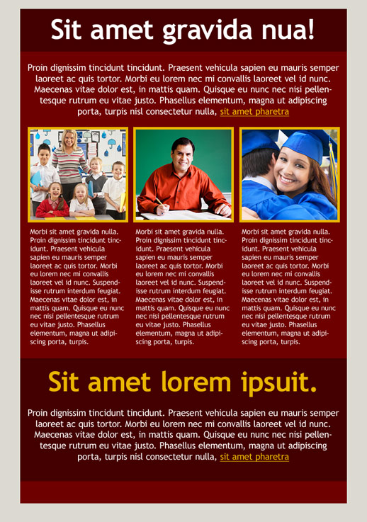 education newsletter templates email marketing getresponse