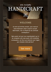 Handicraft newsletter template