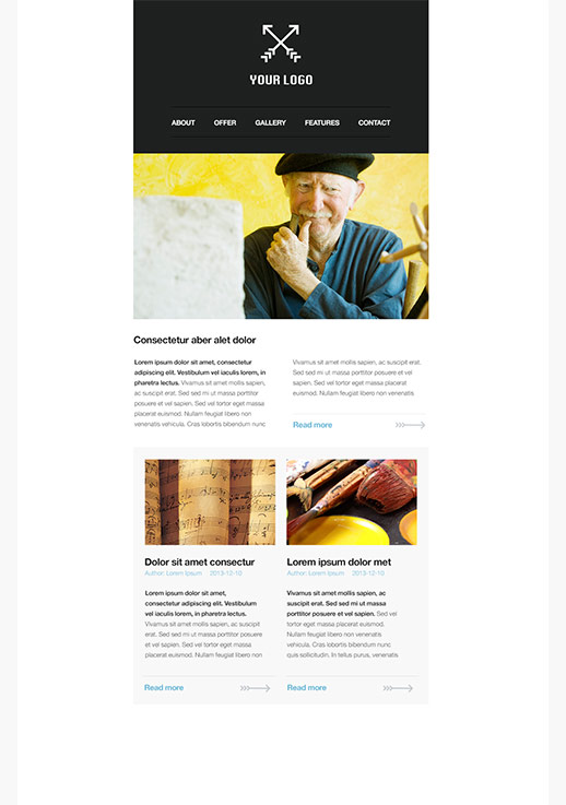 education newsletter templates - email marketing