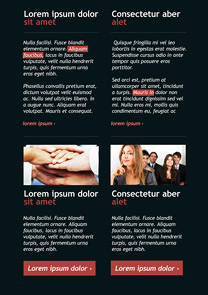 Two Columns Black newsletter template