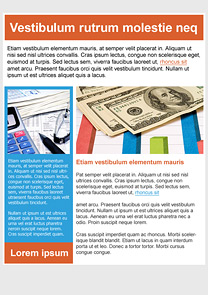 Make Money Orange newsletter template
