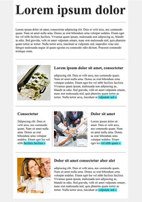 Business Success Light Blue newsletter template