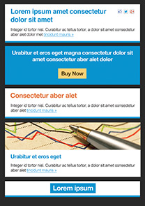 Success Blue newsletter template