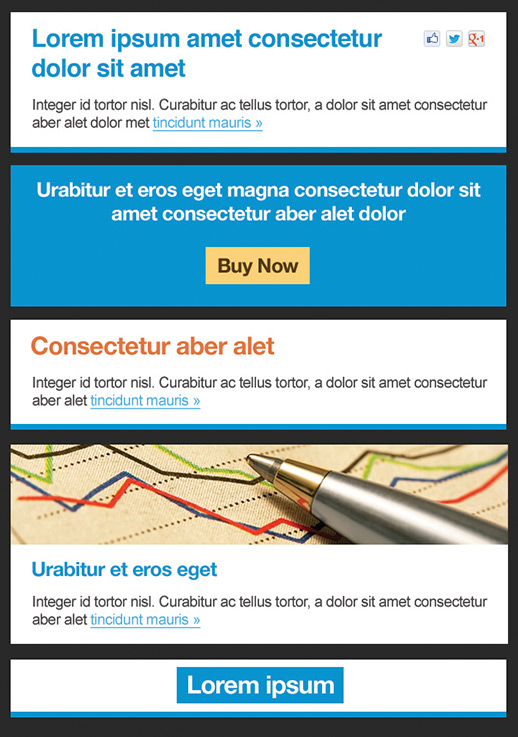 financial services newsletter templates email marketing gr