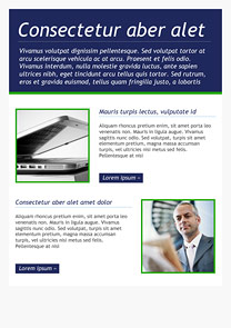 Business Class Navy Blue newsletter template