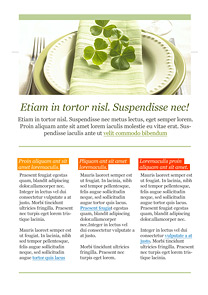 Sunday Dinner Green newsletter template