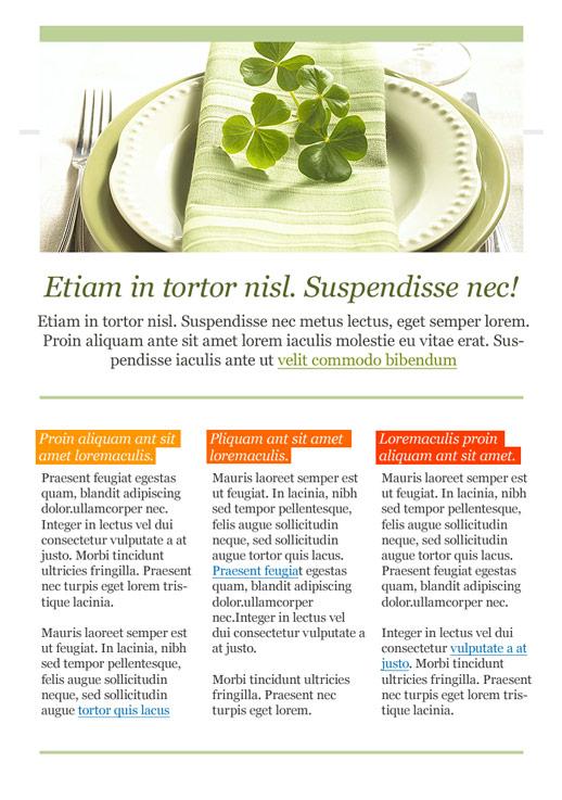 Essen, Wein und Restaurants Newsletter-Vorlage – E-Mail Marketing ...