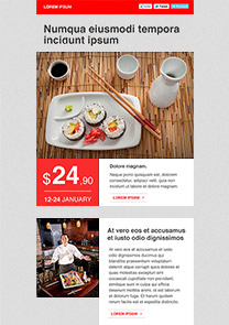 Sushi Lounge newsletter template