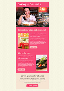 Baking&Desserts newsletter template