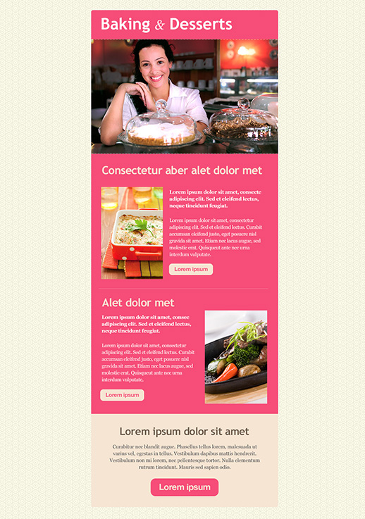 Food and Restaurants Newsletter Templates - email marketing - GR
