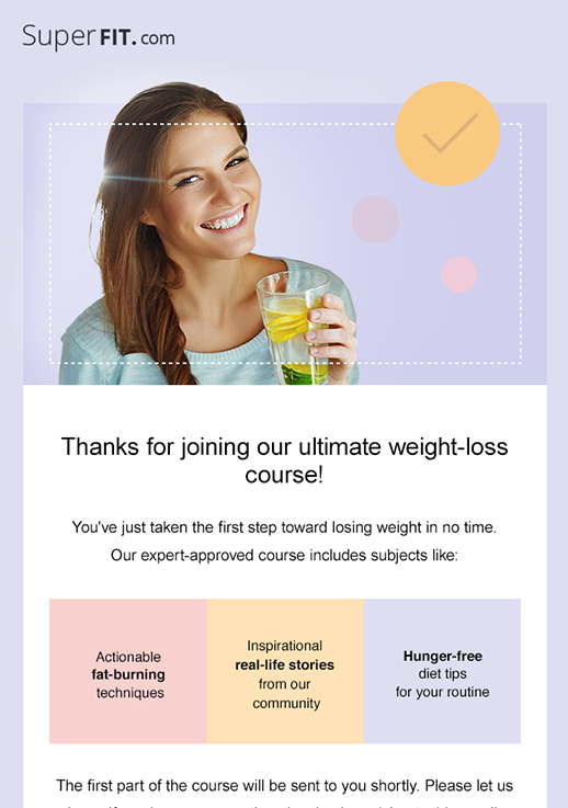 Weight Loss Course newsletter template