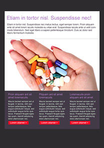 Painkillers Red newsletter template