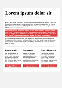 Easy Editorial Red newsletter template