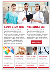 Doctors Red newsletter template