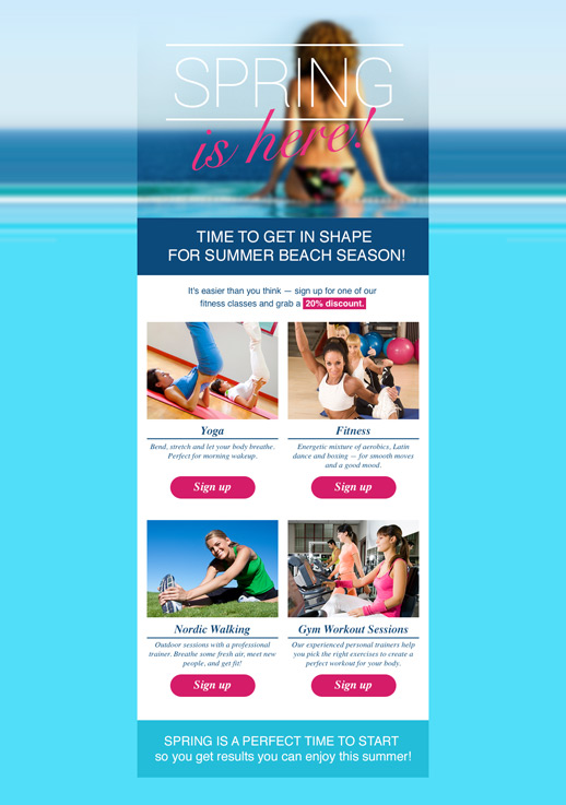 Health And Beauty Newsletter Templates Email Marketing GetResponse - Online newsletter templates