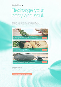 Magical Spa newsletter template
