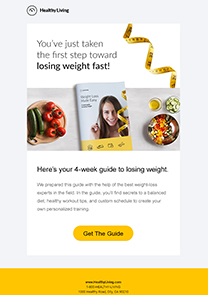 Healthy Living newsletter template