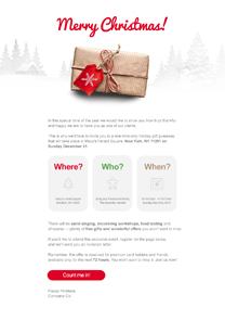 Marry Christmas newsletter template