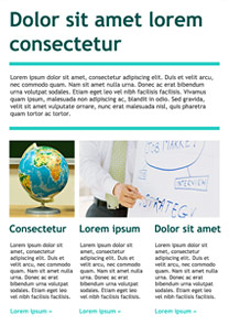Teaching Light Blue newsletter template