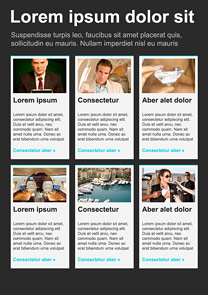 Celebrity Black newsletter template
