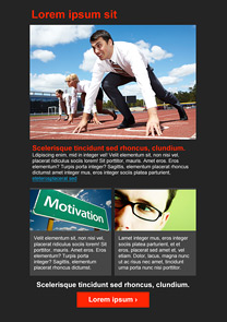 Motivation Black newsletter template