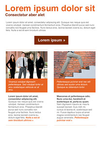 Career Orange newsletter template