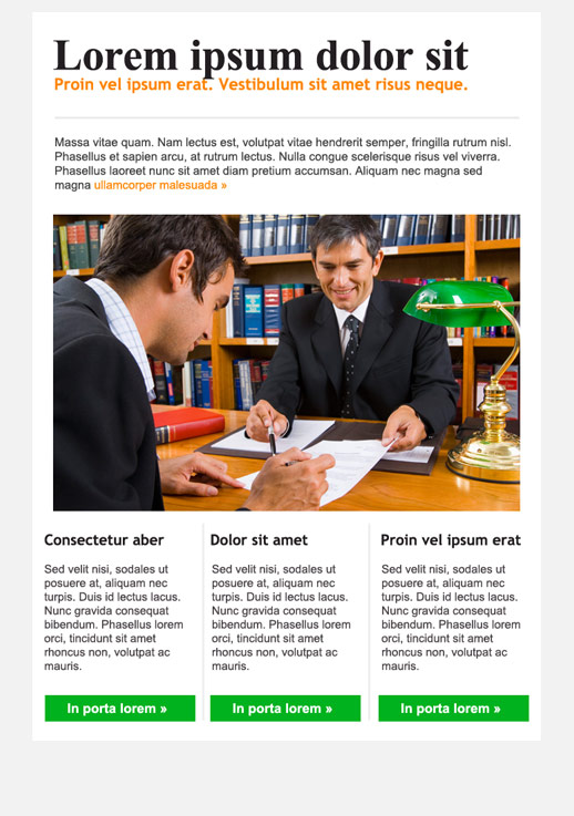Legal Services Newsletter Templates Email Marketing GetResponse - Legal newsletter template